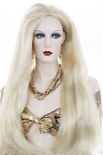 Mortisha Long Blonde Grey Brunette Red Straight Costume Wigs