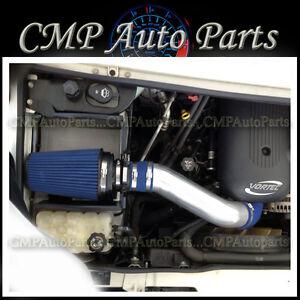 BLUE HEATSHIELD COLD AIR INTAKE KIT FIT 2003-2007 HUMMER H2 6.0 6.0L V8 ENGINE
