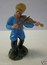 1950's Czechoslovakian Art Glass Musical Figurine, Violinist