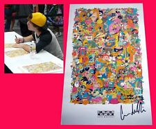 CARTOON NETWORK 20TH BIRTHDAY sdcc 2012 Exclusive Signed Poster CONNOR DEL RIO