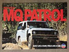 1980 Datsun MQ Patrol original Australian sales brochure