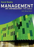 Management: An Introduction by Boddy, David