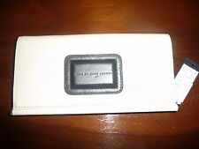 *NWT* Marc by Marc Jacobs Cream & Black Colorblock Leather Large Wallet $218