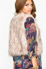 BB Dakota Women's Pink Barbarella Faux Fur Vest Size Small NWT Cropped