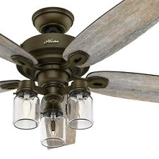 Hunter Fan 52 inch Regal Bronze Ceiling Fan with 3 Light Fitter & Remote Control