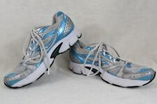 Saucony Cohesion 5 Running Shoes, #15118-2, White/Turq/Silver, Womens Sz 7  Y78
