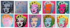 Andy Warhol Marilyn Monroe Silkscreen Portfolio of 10 Sunday B Morning COA