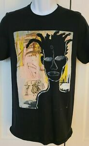 Jean Michel Basquiat Abstract Self Portrait T-Shirt Funny Vintage Gift For Men