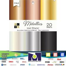 DCWV®️ STACK - DCWV - 6 X 6 - FOILED CARDSTOCK STACK 20 SHEETS PS-016-00011