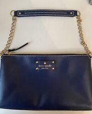 Kate Spade navy blue over shoulder bag or clutch .