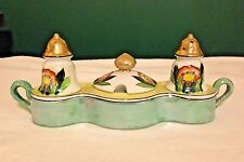 Hand Painted Japan Vintage Condiment Set Salt Pepper Sugar
