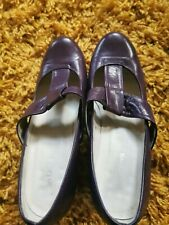 Vintage VGC John Lewis UK 6 EUR 39 Purple T-bar Mary-Jane Mid Heels Comfort shoe