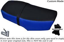 Negro Y Azul Real Custom encaja Hartford Legión Hd 125 L Doble De Cuero Funda De Asiento