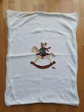 POLO RALPH LAUREN Babydecke gestrickt Polobär ca. 95cmx 70cm
