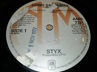 """STYX * COME SAIL AWAY * 7"""" SINGLE EXCELLENT 1977 AMS 7321"""