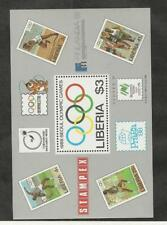 Liberia, Postage Stamp, #1081 Mint NH Sheet, 1988 Olympic Sports