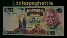 Zambia 50 Kwacha (1986-1988) Sign7  UNC P-28.