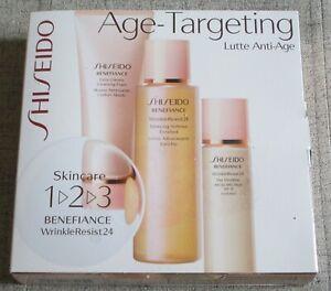SHISEIDO BENEFIANCE 1-2-3 KIT Age-Targeting Wrinkle Resist24 NEW !!