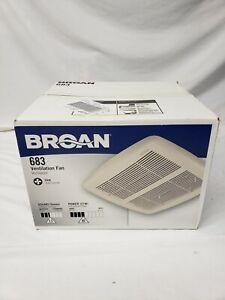 Broan Ventilation Fan Ventilator 2.5 Sone 80-CFM Model 683 NEW sealed