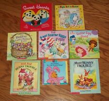 Lot of 8 ~  CHILDREN'S PICTURE BOOKS ~ EASTER ~ SPRING ~ BUNNIES + AR