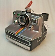 Instant Camera Photography Christmas Tree Ornament Glass Glittery NEW!
