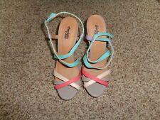1c57a78be8a Charlotte Russe Multi color platform sandals size 9 (3952)