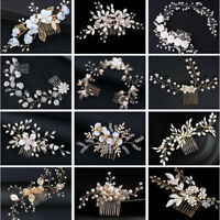 17 Styles Hair Comb Flower Crystal Bridal Headpieces Headdress Hair Accessories