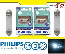 Philips Ultinon LED Festoon 6418 White 6000K Map License Plate Dome Trunk X 2