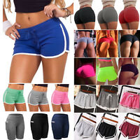 Summer Womens Shorts Gym Waistband Beach Pants Sports Jogging Pocket Tights Yoga