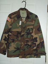 USGI New BDU-Woodland Camouflage Combat Uniform Coat! Size Medium-XX Short.