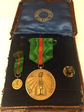 Vintage Venezuela honra educadores Teachers  Medal order Set In Box
