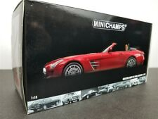 2011 MERCEDES BENZ SLS AMG ROADSTER MET RED DIE CAST 1/18 BY MINICHAMPS