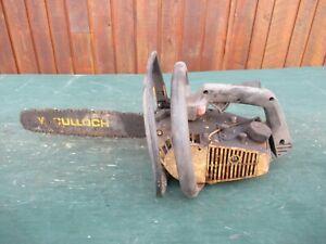 "Vintage McCULLOCH POWER MAC 310 Chainsaw Chain Saw 14"" Bar  PARTS"