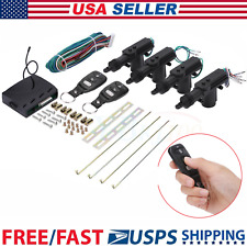 Universal Remote Auto Car Central 4 Door Locking Unlock System Keyless Entry Kit