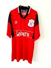Nottingham Forest Home Shirt 1996. Large. Original Umbro Red Adults Football Top