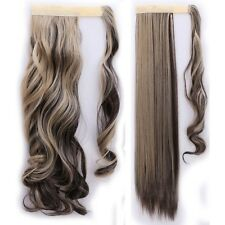 "100% New 18-26"" Wrap Around Ponytail Clip In Hair Extensions Real Thick As Human"