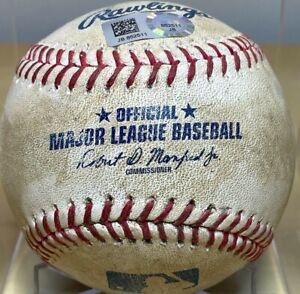 BUSTER POSEY 2B + BRANDON CRAWFORD 1B GAME-USED MLB BASEBALL GIANTS v PHILLIES