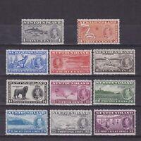 NEWFOUNDLAND 1937, SG# 257-267, CV £60, MH