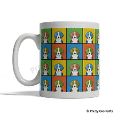 English Foxhound Dog Mug - Cartoon Pop-Art Coffee Tea Cup 11oz Ceramic