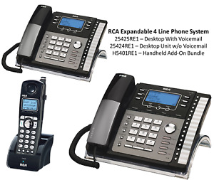 RCA 4-Line Expandable Office Phone System; 25424RE1 ; 25425RE1 ; H5401RE1-B / A