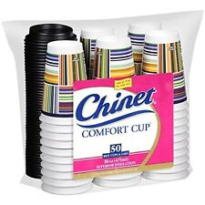 Chinet Comfort Cup (16-Ounce Cups), 50-Count Cups & Lids by Chinet
