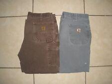 Lot of 2 CARHARTT B11 B151 Duck Canvas Carpenter work pants mens 36 x 28