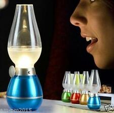 Portable USB Rechargeable LED Blow Control Light Vintage Retro Lamp