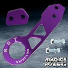 Purple ANODI Billet Aluminum Racing Rear Tow Hook Kit CNC JDM Anodized