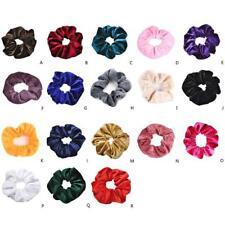 1p Velvet Scrunchies Ponytail Holder Hair Accessories Lot Elastic Hair Band