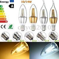 E27 B15 E14 B22 E12 10W/14W LED Chandelier Candle Flame Light Bulb Lamp