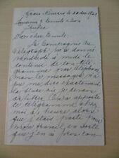 1928 Armand Lesieur Signed Letter