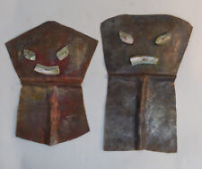 Canada First Nations Northwest Coast Pair of COPPER Shields RARE
