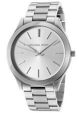 MICHAEL KORS MK3178 Runway Silver Tone Dial Stainless Steel Wrist Watch NEW