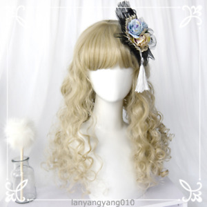 Retro Harajuku Sweet Lolita Cosplay Girl Women Princess Curly Hair Princess Wig